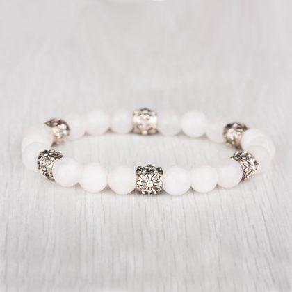White Dream ladies Bracelet with white beads