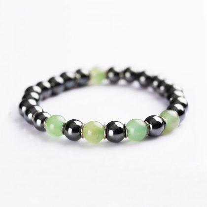 green and grey beads bracelet for men