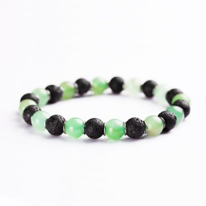 Lava Stone And green Onyx beads Bracelet for men
