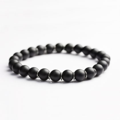 Black Matte Onyx Bracelet for Men