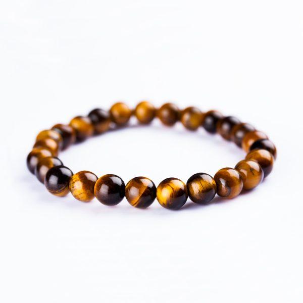 unisex Tiger Eye Beads Bracelet handmade