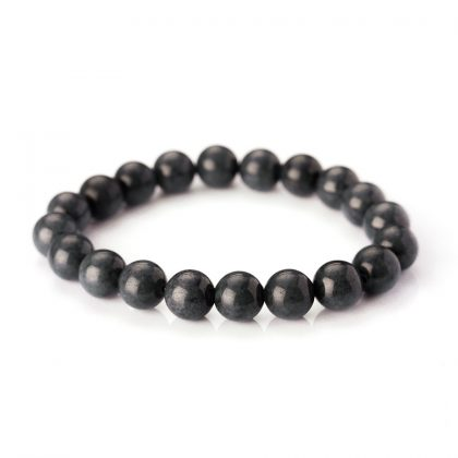 Grey Labradorite Beads Men Bracelet