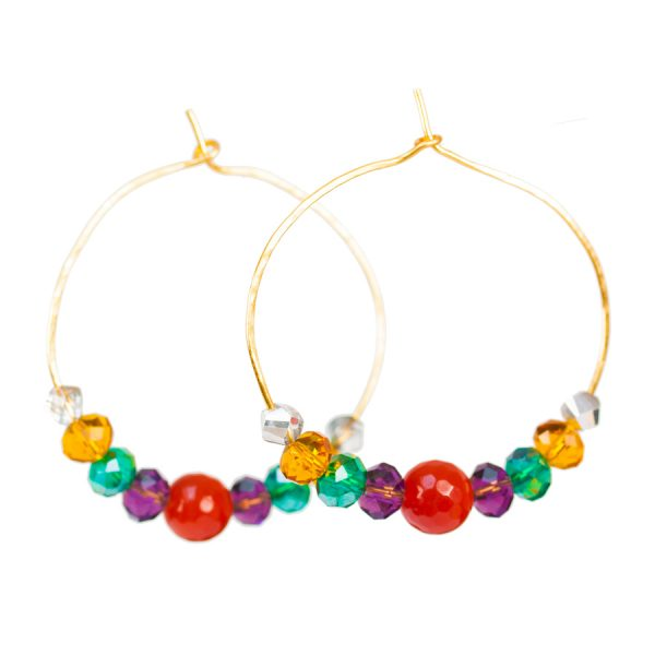 colorfool handmade hoop earrings