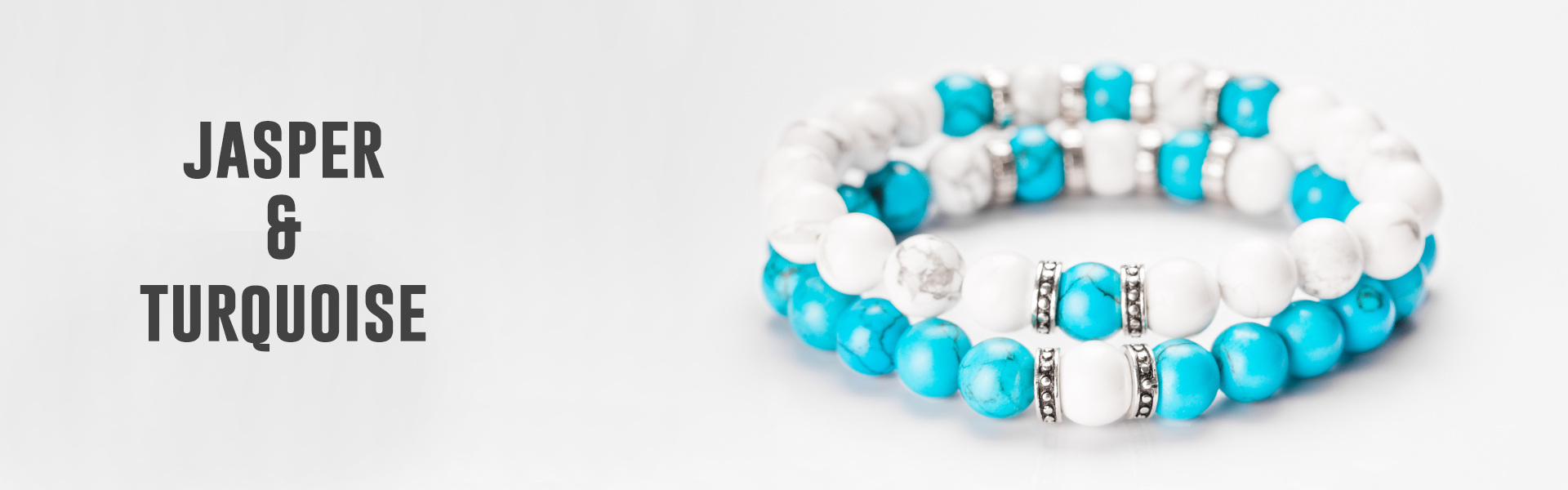 blue and white beads couples bracelets