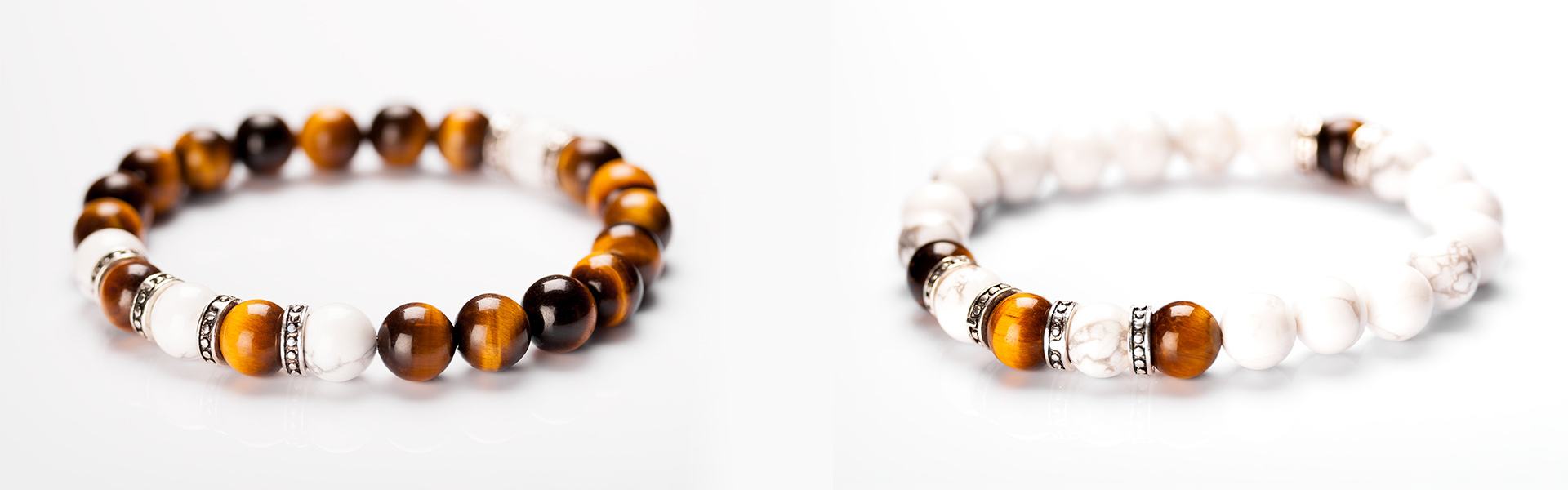 couples bracelets with tiger eye and jasper stones for men and ladies