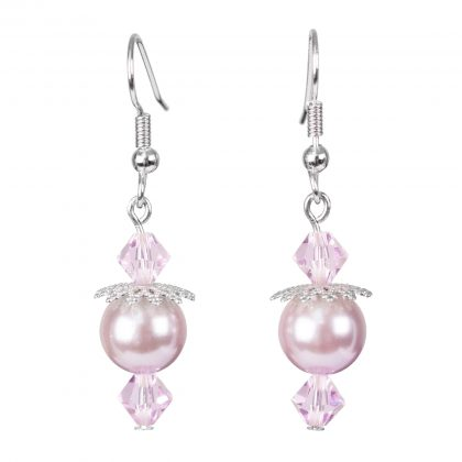 Pink Sea Shell Pearls Earrings for ladies