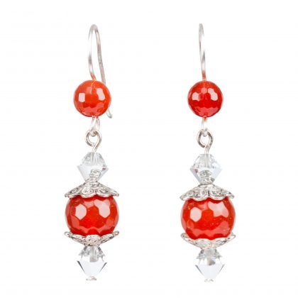 Red Agate Dangles Earrings for ladies