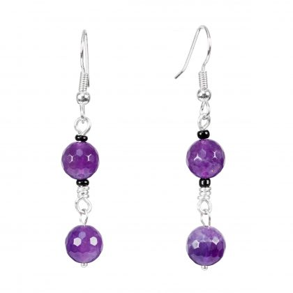 Purple Amethyst Dangles Earrings