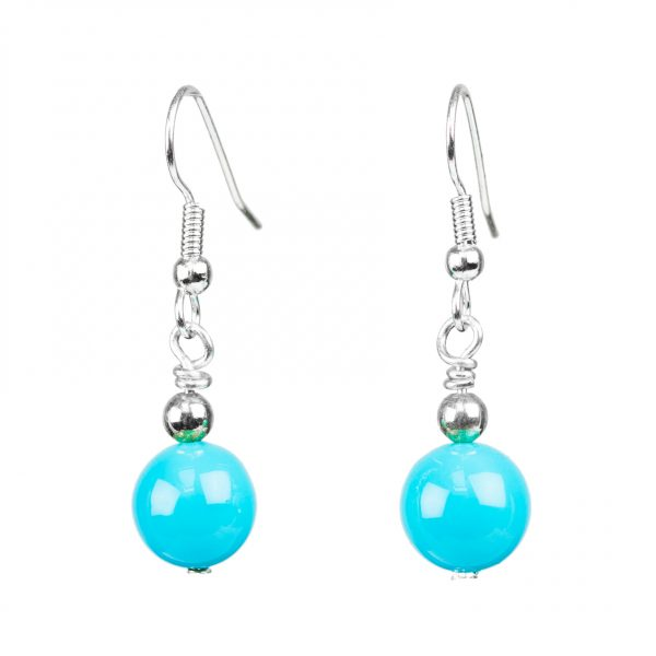 Blue Sea Shell Pearls Earrings for ladies